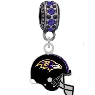 baltimore-ravens-helmet-silver