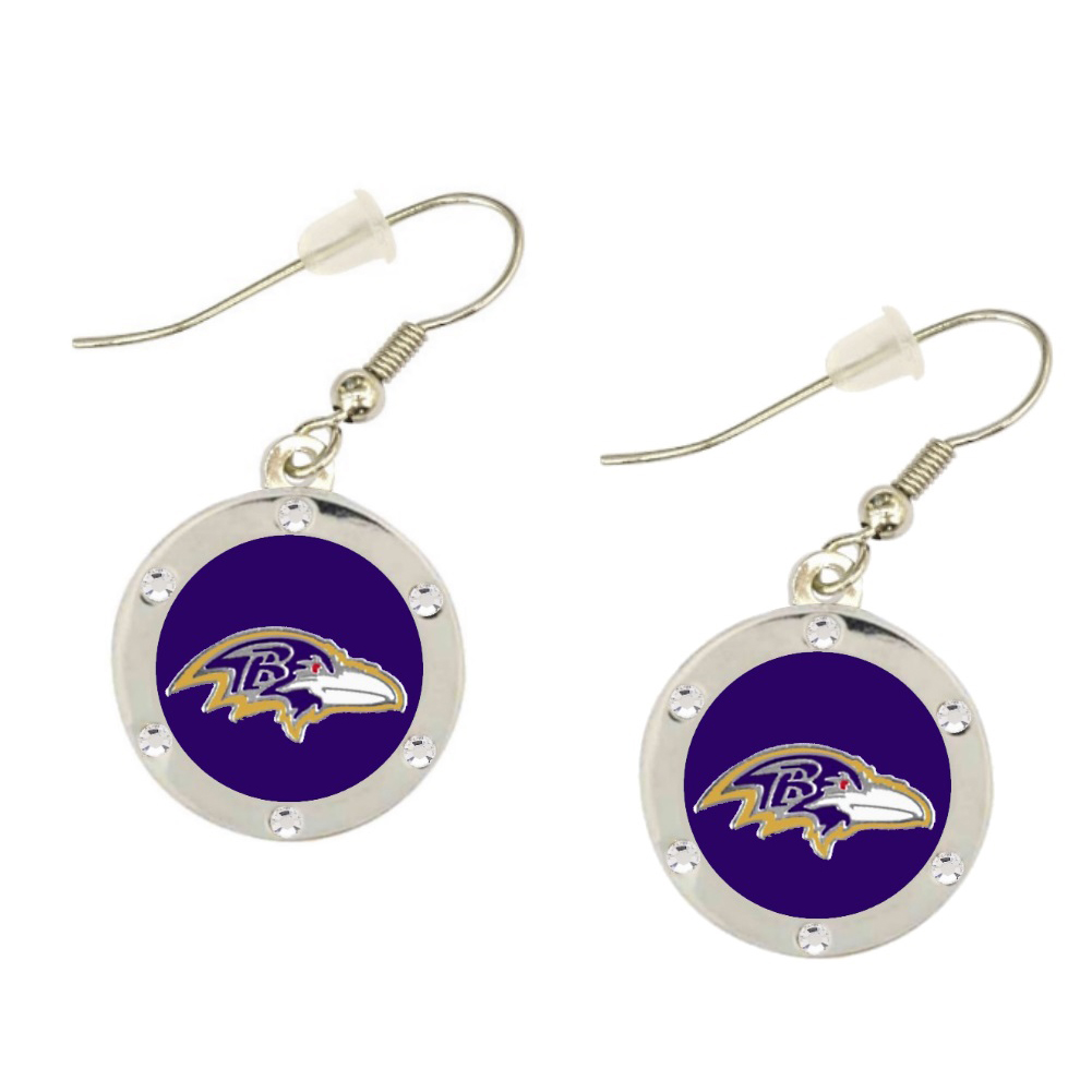Baltimore Ravens Circle Earrings