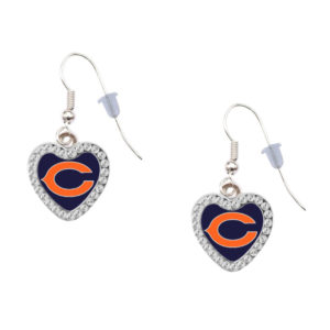 chicago-bears-heart-earrings