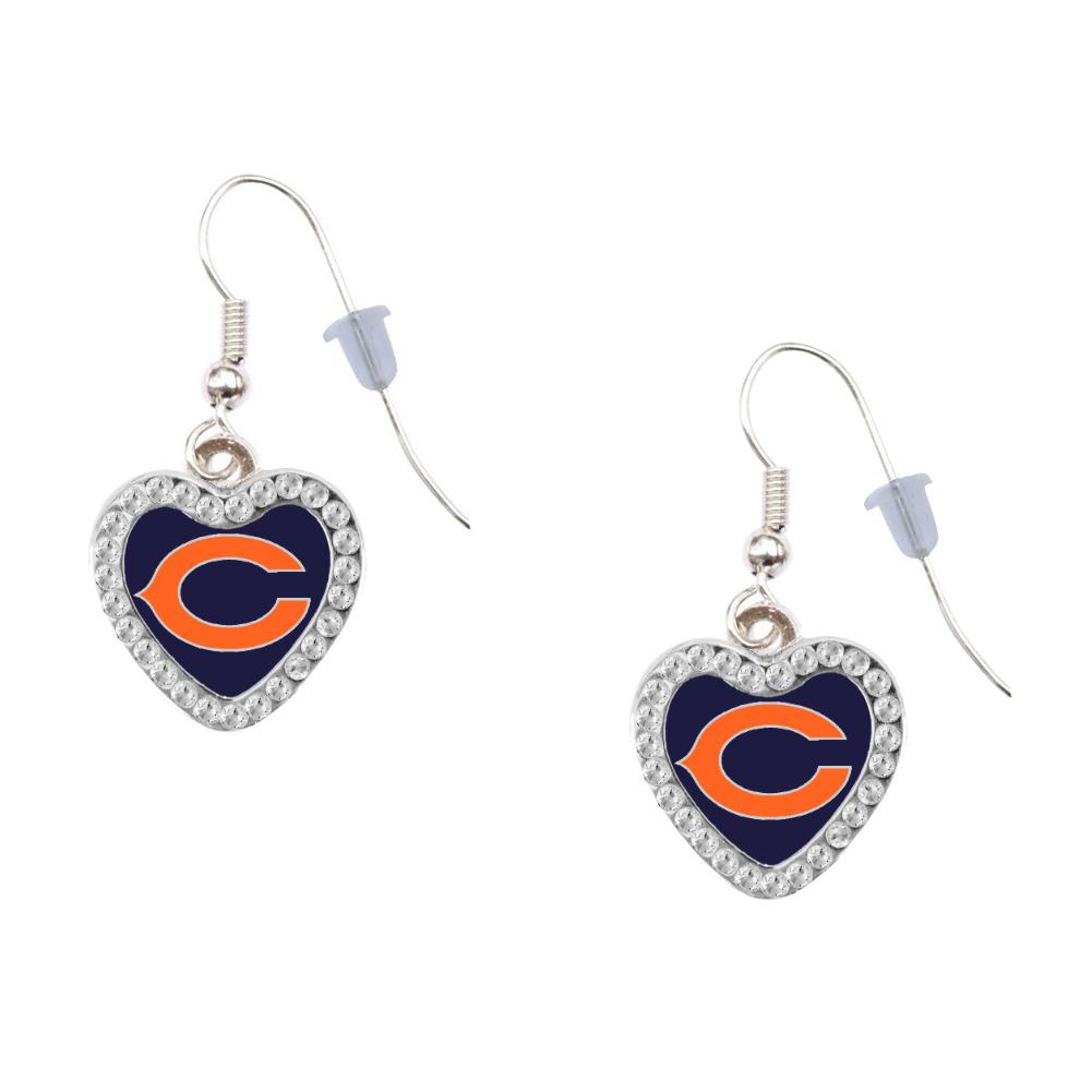 Chicago Bears Heart Earrings