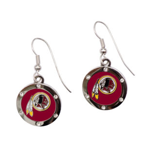 washington-redskins-circle-earrings