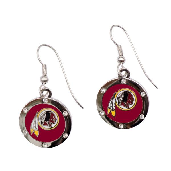 washington-redskins-circle-earrings