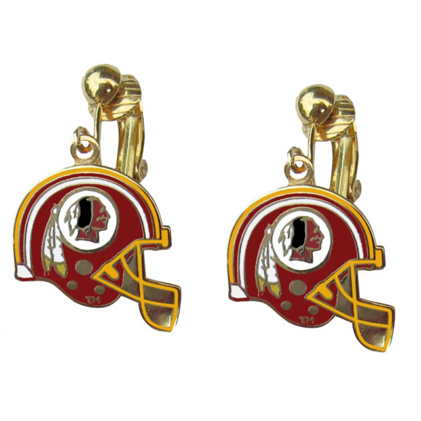 washington-redskins-helmet-clip-earrings