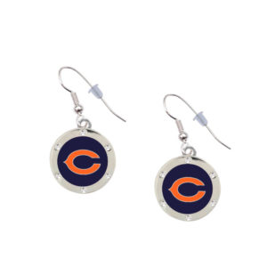 chicago-bears-crystal-earrings