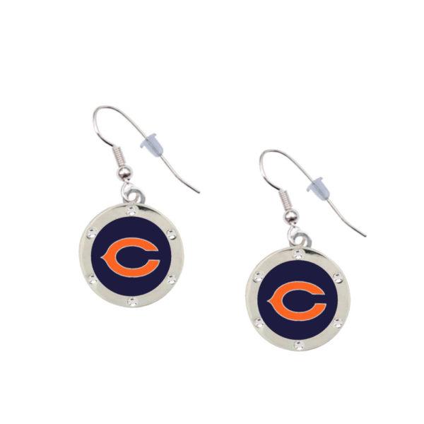 chicago-bears-crystal-earrings