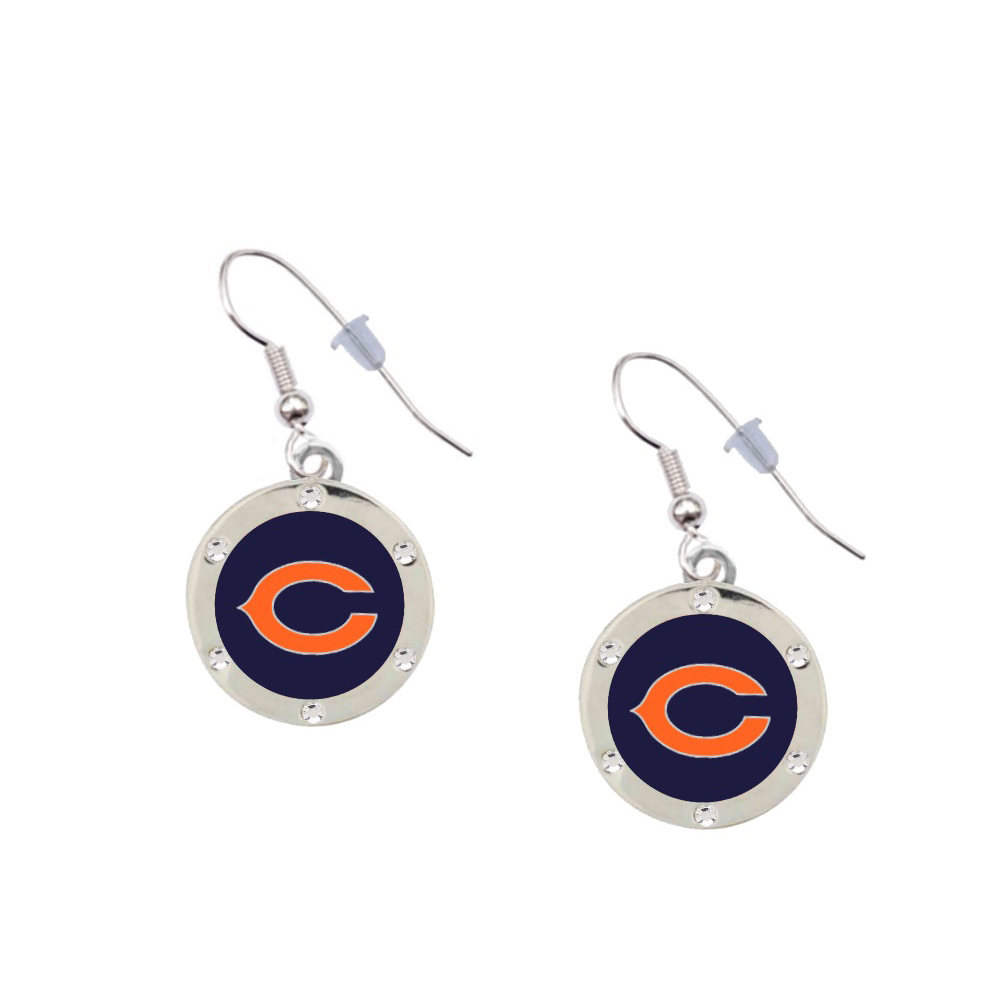 Chicago Bears Crystal Earrings