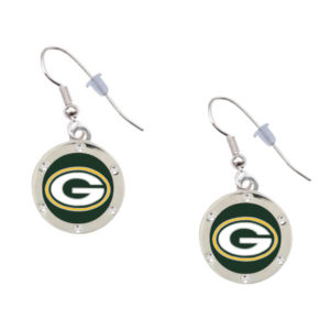 green-bay-packers-circle-earrings