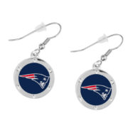 new-england-patriots-circle-earrings