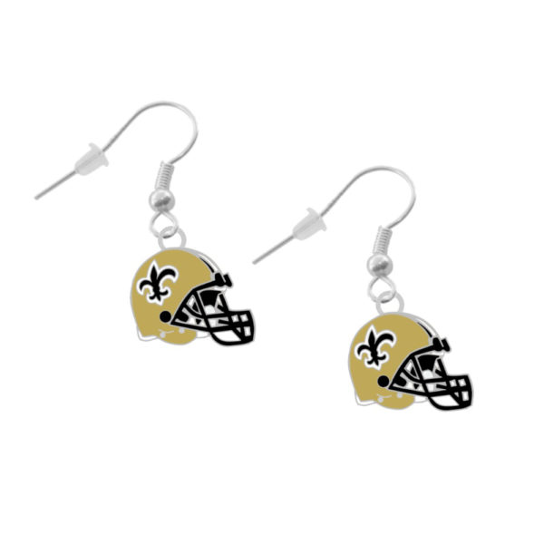 New Orleans Helmet Earrings