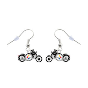 pittsburgh-steelers-motorcycle-earrings