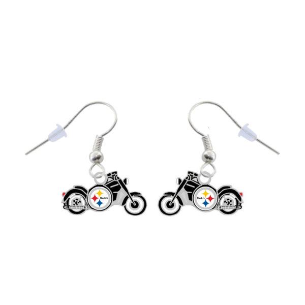 pittsburgh-steelers-motorcycle-earrings