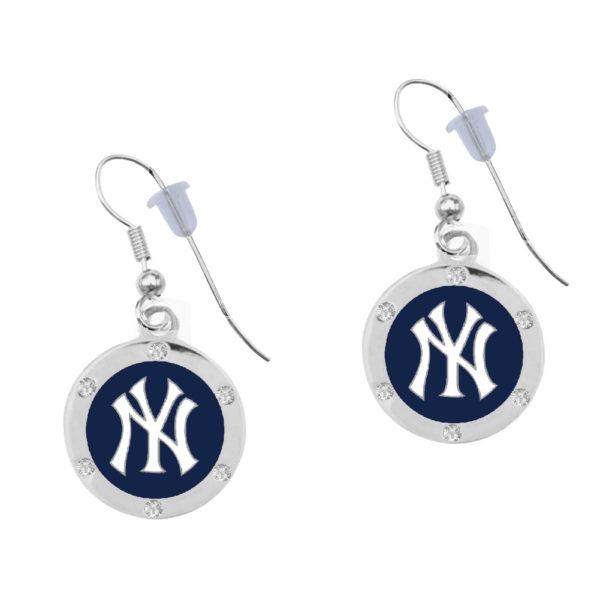 new-york-yankee-circle-earrings