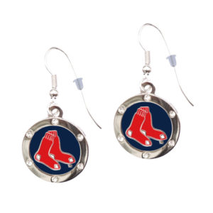 boston-red-sox-circle-earrings