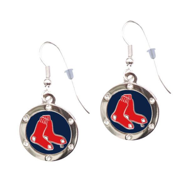 boston-red-sox-circle-earrings