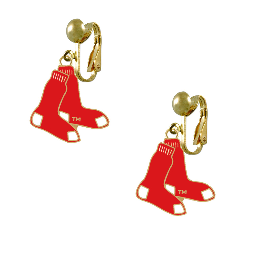 Boston Red Sox Logo Earrings Clip Final Touch Gifts