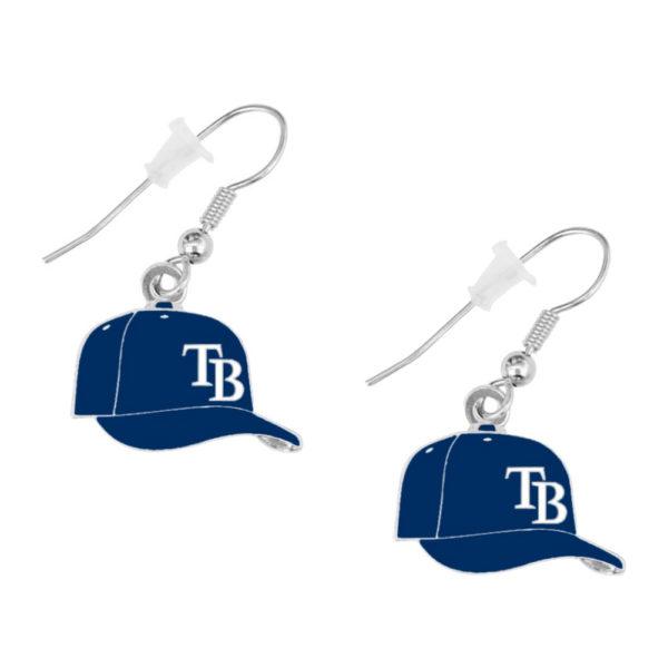 tampa-bay-rays-cap-earrings