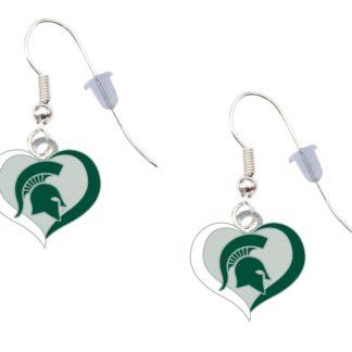 Virginia Tech Swirl Heart Earrings