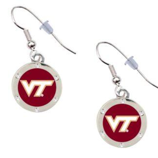 virginia-tech-crystal-earrings